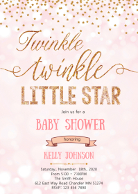 Twinkle twinkle baby shower invitation