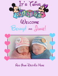 Twins Baby Welcome Photo Boy Girl