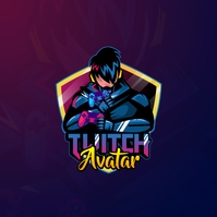 Twitch Ninja Logo Instagram na Post template