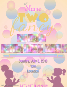Two Fancy Bubble Birthday Bash
