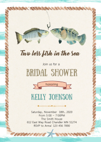 Two less fish in the sea bridal shower