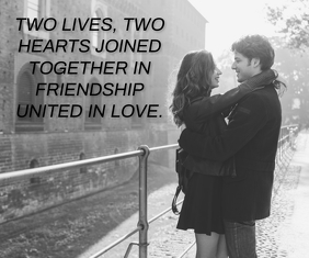 TWO LOVE QUOTE TEMPLATE Medium Rectangle