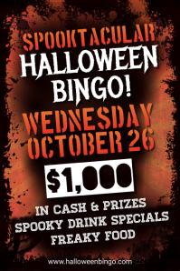 Typographic Halloween Bingo Poster Template