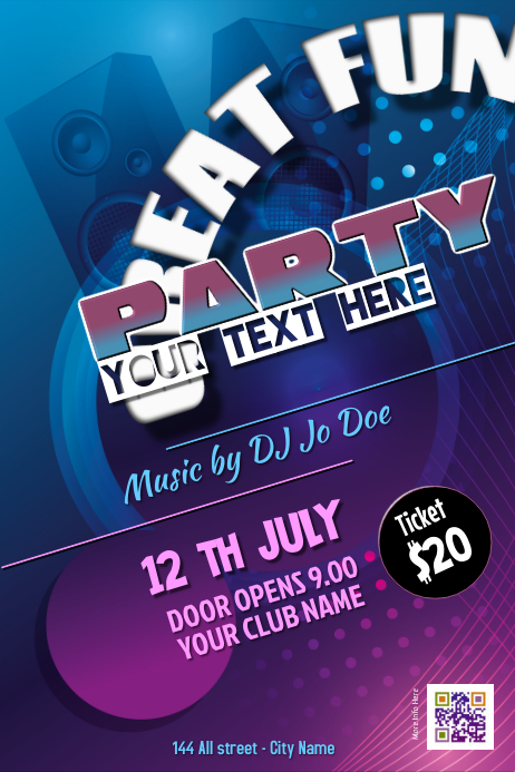 Party poster - PosterMyWall