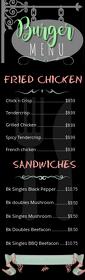 Typographic Vertical Burger Menu Half Page Legal template