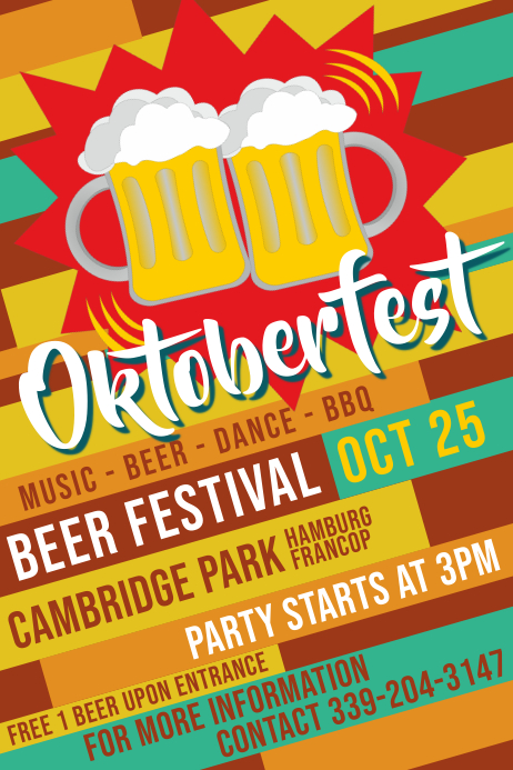 Typographical Oktoberfest Poster Template