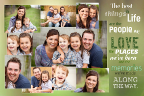 Typography Family Collage template