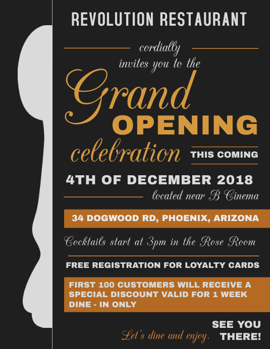 Typography Grand Opening Flyer Template | PosterMyWall