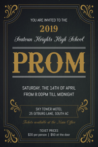 Typography themed Prom Invitation Flyer Poster template