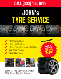 Tyre Service Promotion FLyer Pamflet (Letter AS) template