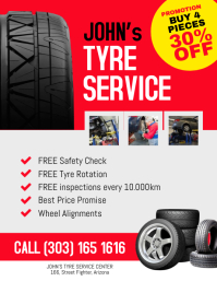 Tyre Service Promotion FLyer