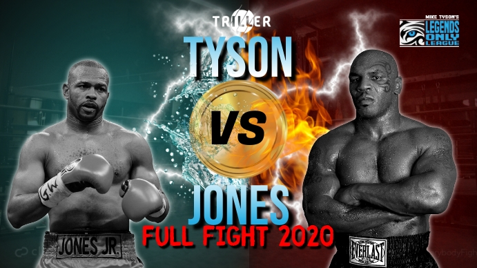 Tyson vs Jones Miniatura de YouTube template