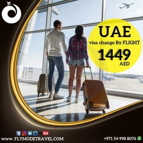 UAE VISA CHANGE BY FLIGHT - TRAVEL