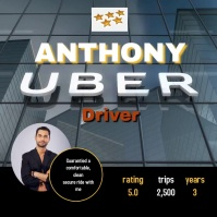 Uber driver profile/ taxi / corporate logos template