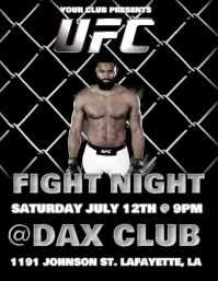 UFC FIGHT NIGHT FLYER
