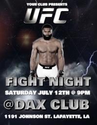 UFC FIGHT NIGHT FLYER TEMPLATE