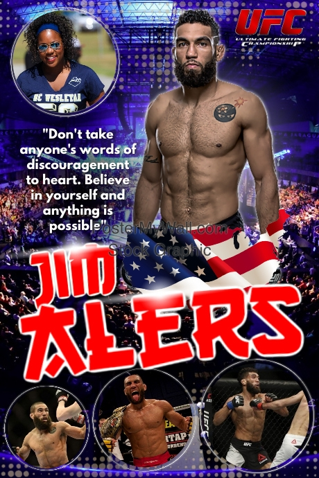 Ufc Fighter Poster Template  Postermywall