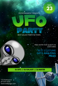 Ufo Costume Party Flyer Template