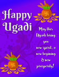 Ugadi Greetings Flyer Template