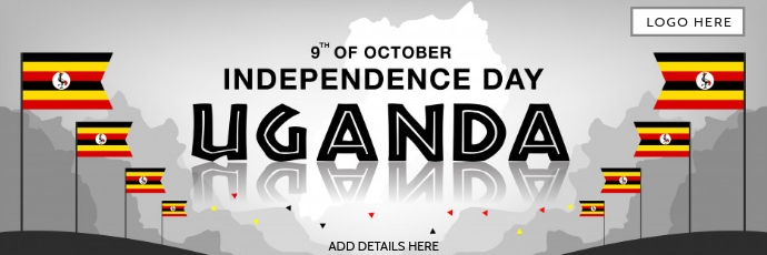 Uganda Independence Day Template Twitter-header