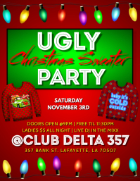 UGLY CHRISTMAS SWEATER CLUB FLYER