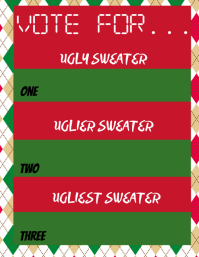 Ugly Sweater Contest Ballot