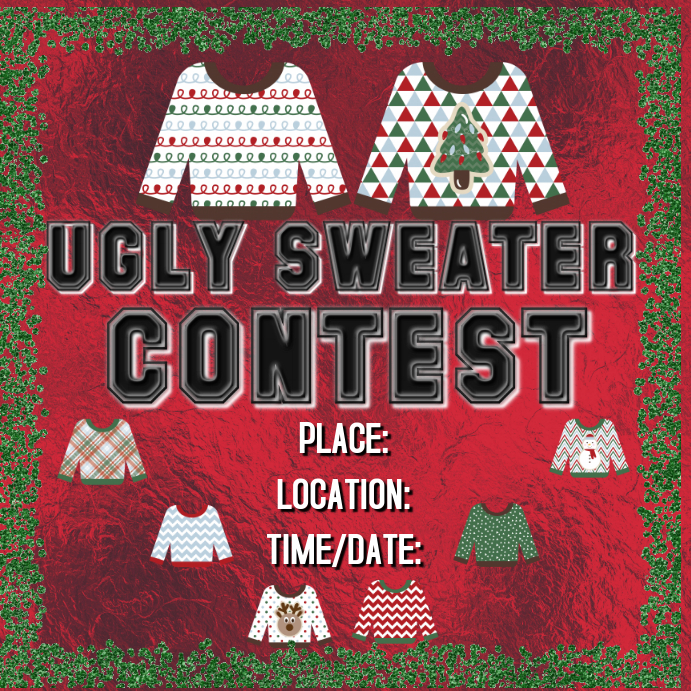 Ugly Sweater Contest Template Postermywall