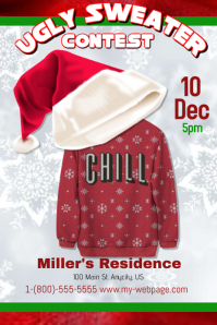 Customizable Design Templates For Ugly Sweater PosterMyWall - Ugly sweater flyer template free