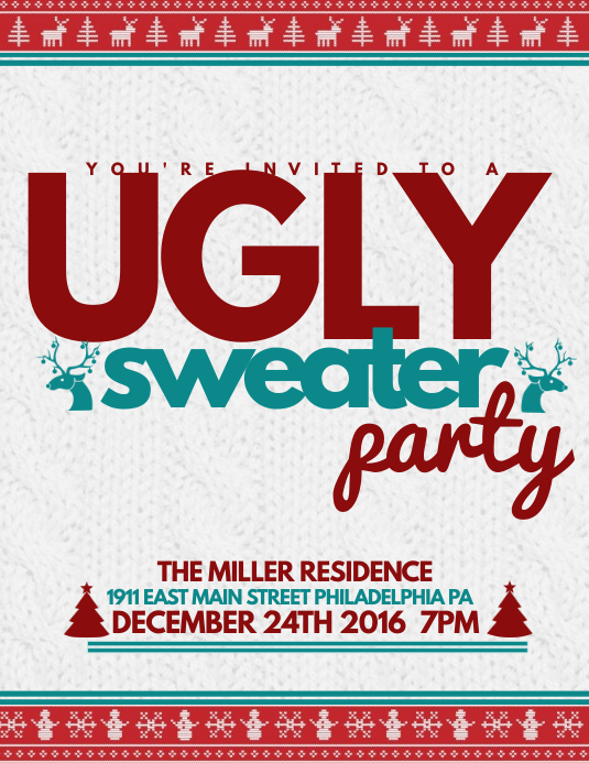 16 080 Customizable Design Templates For Ugly Sweater Party