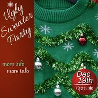 Ugly Sweater Party Cuadrado (1:1) template