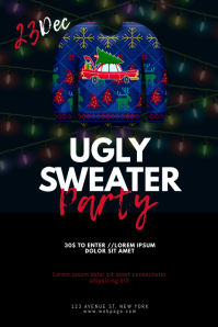Ugly Sweater Party Flyer Design Template