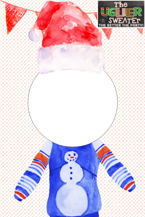 6acd4ab1139b Ugly Sweater Party Prop Frame Template