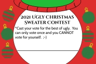 Ugly Sweater Voting Card Label template