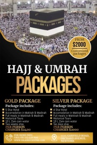 Umrah, Hajj packages, umrah packages Poster template