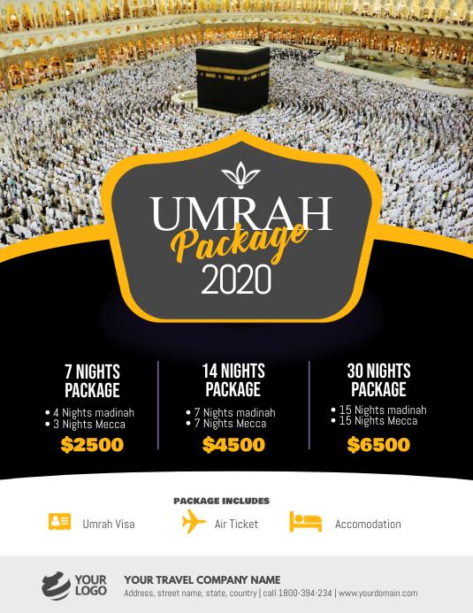 Umrah Hajj Package Flyer Poster