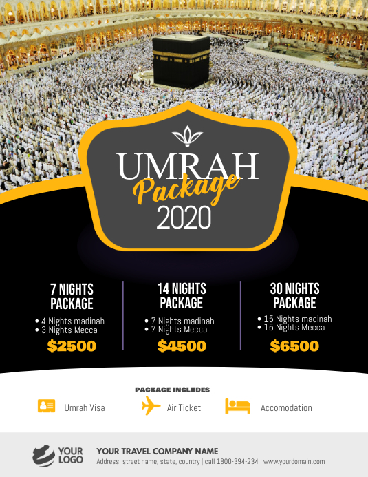 Umrah Hajj Package Flyer Poster Template | PosterMyWall