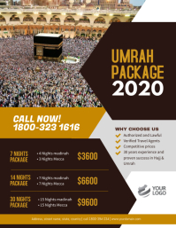 Umrah Package flyer Poster