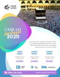 Umrah Package flyer Poster template