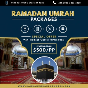 Umrah Ramadan Package Travel Agency Ad Instagram Post template