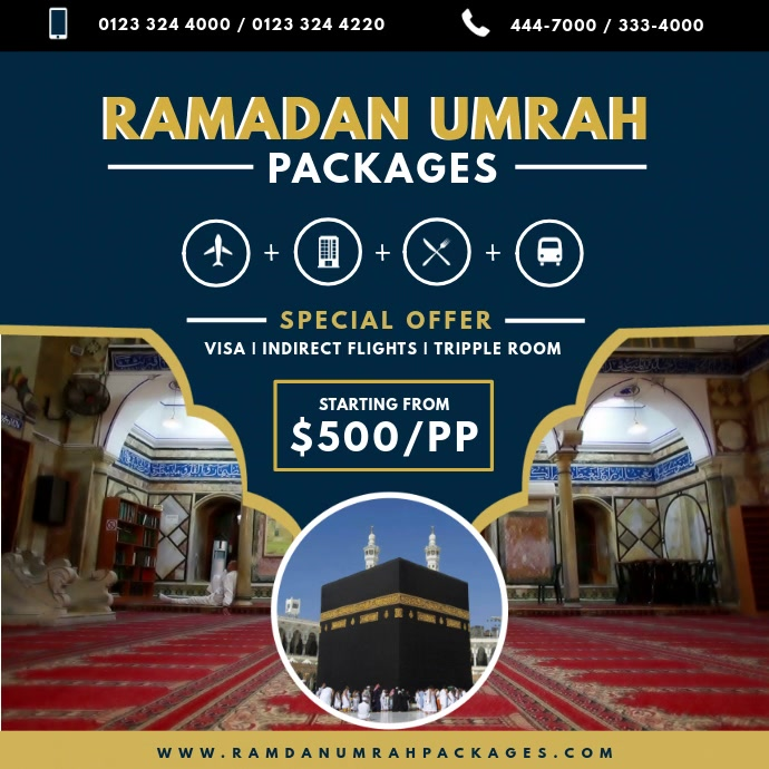 Umrah Ramadan Package Travel Agency Ad