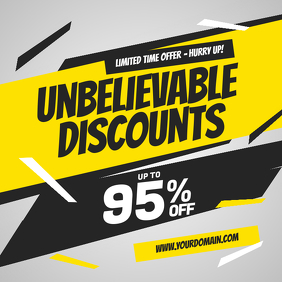 Unbelievable Discounts Sale Instagram Post Template
