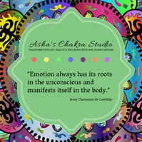 Unblock Chakras yoga studio advertisement Pos Instagram template