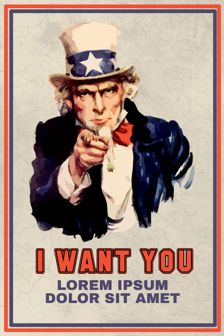 Uncle Sam Flyer Template