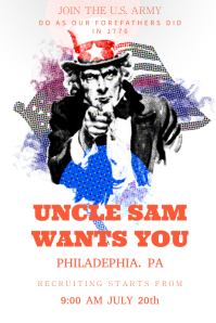 Uncle Sam US Army Poster template