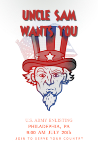 Uncle Sam Vintage Poster Template