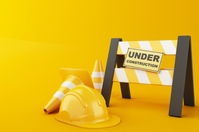 UNDER CONSTRUCTION FLYER TEMPLATE Poster