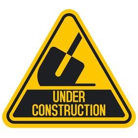 Under Construction Sign Vierkant (1:1) template
