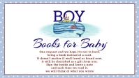 Under the Sea Nautical Shower Books for Baby Business Card template