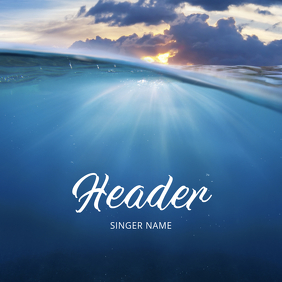 Under Water album cover template baptism