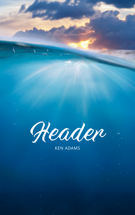 Under Water Book cover Baptism Template